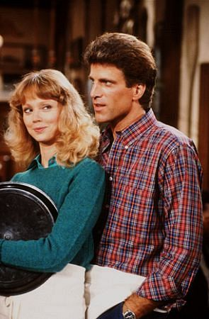 [Picture of Shelley Long and Ted Danson on the set of Cheers, 1984; Britney Spears was a very young girl then.]